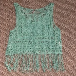 Tops - Lace/Fringe Tank Top